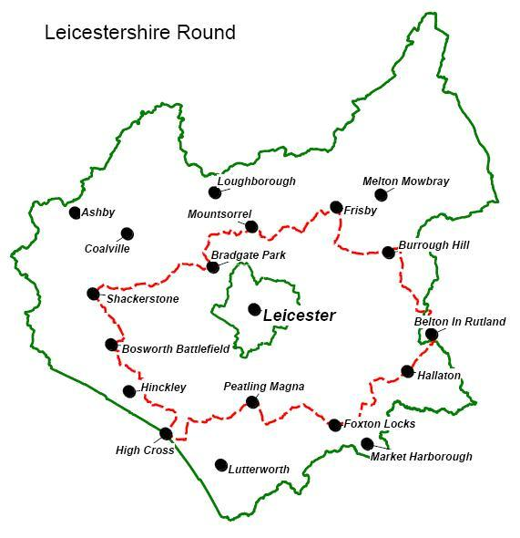 Map Of Leicestershire The Leicestershire Round | Leicestershire Footpath Association Map Of Leicestershire