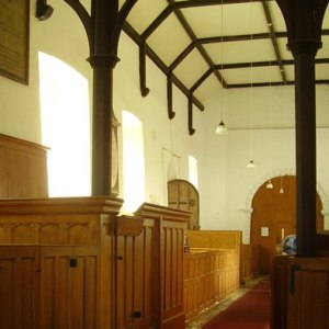 Inside Winkburn church