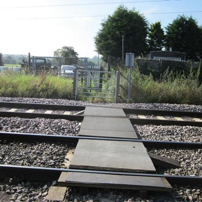Footpath crossing the railway