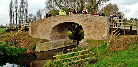Waterhouse Bridge, River Wreake, Hoby. Opening November 18th. 2011 View from downstream