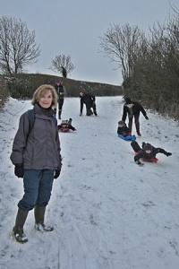 Walker meet sledges at Barkestone le Vale