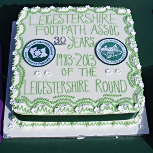 Leicestershire Round at 30 celebration cake