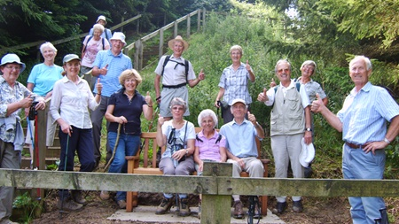 On a recent walk the Birstall Walking Group gave the thumbs up when they found a new seat on the Leicestershire Round at Punch Bowl Covert near Little Dalby.