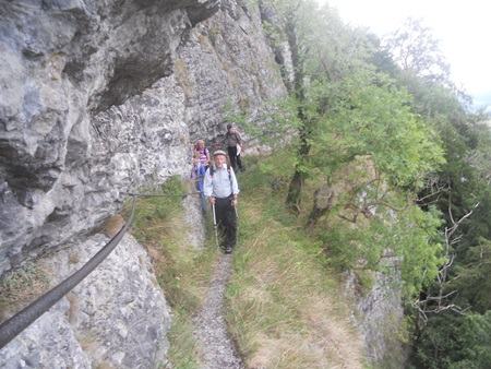 Giddy Edge path on High Tor at Matlock