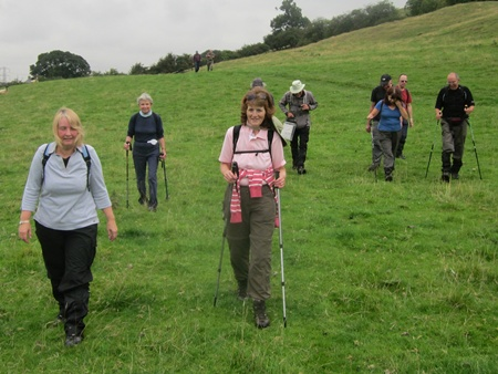 The group are guided on the return by Christine.