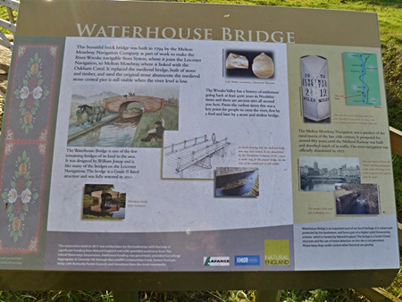 Information board at Waterhouse Bridge