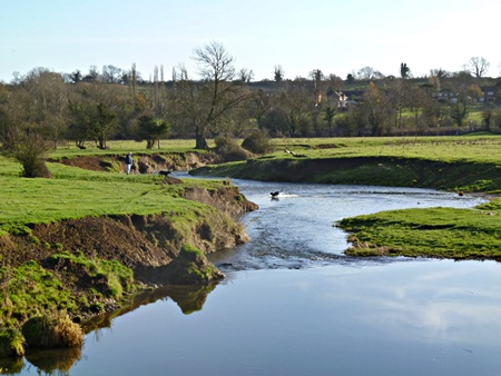 River Wreake towards Rotherby from Waterhouse Bridge
