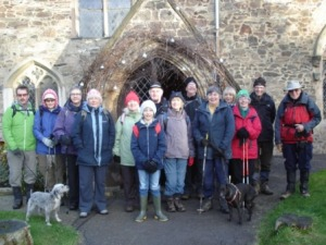 The group meeting at Newtown Linford church