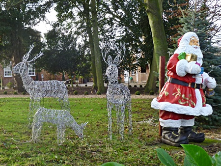 Santa and his reindeer at Carlton Curlieu