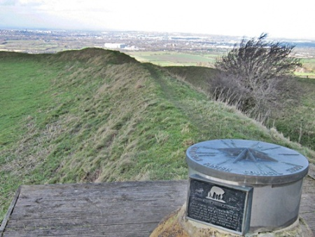 Liddington Hill Fort and Swindon in the distance