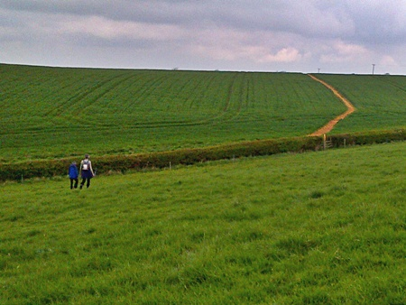 Heading back to Saltby - end of a good walk in Leicestershire