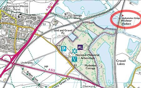 Mythaholme bridge - spot the linking footpath