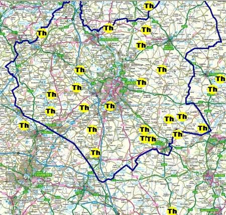 Leicestershire Footpath association Thursday group walks summer 2014