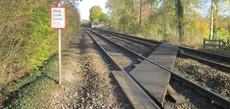 A railway level footpath crossing not safe to use say Network Rail