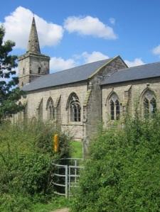 Ratcliffe Culey church spire provides an ancient waymark
