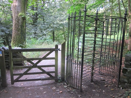Stockghyll Falls exit turnstile now free access