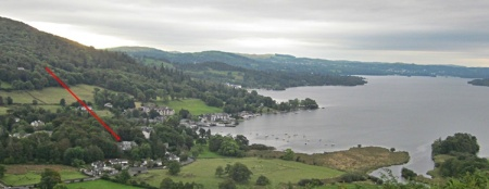 Waterhead at the end of Windermere and our flat