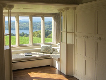 Blackwell - The White Drawing Room overlooking Lake Windermere