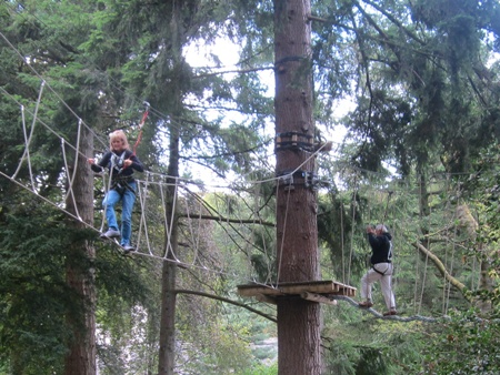 Brockhole and the tree top rope challenge
