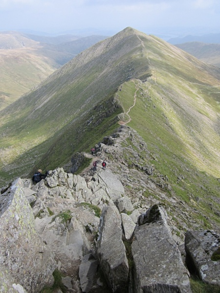 The path along Swirral Edge to Catstye Cam
