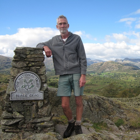 The author on Black Crag a fitting finale to some great walks.