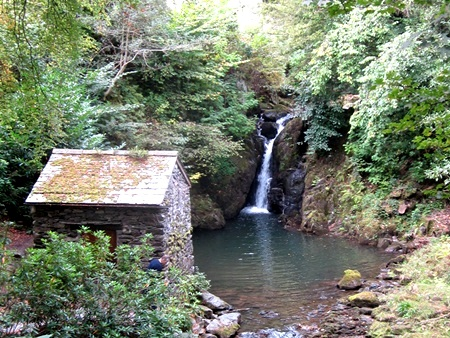 Rydal Hall Grot and waterfall