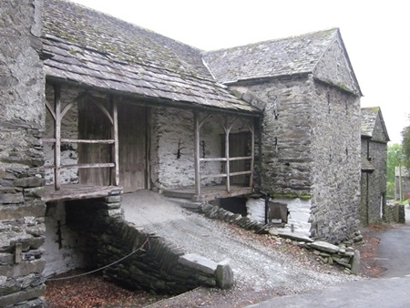A bankbarn opposite Townend at Troutbeck
