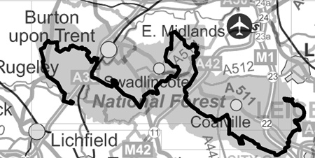 Map of The National Forest Way