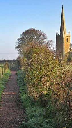 Footpath alongside Barkestone church