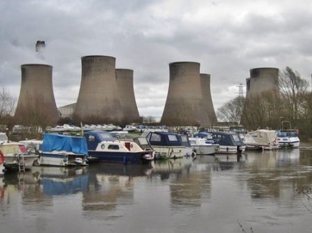 Redhill Marina and Ratcliffe on Soar power station.