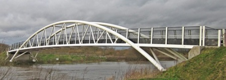 The new Long Horse Bridge over the Trent