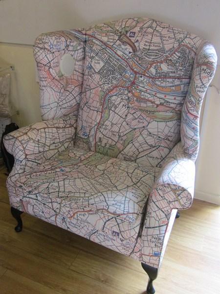 Jane Revitt's Map Chair