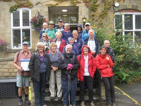 Members of the August weekend away at Cober Hill near Scarborough