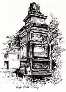 Sketch by Jean Harrison from Leicestershire Round brown guide