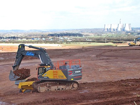 East Midlands Gateway site preparations March 2017