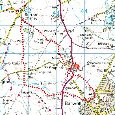 A 6 mile walk from Stapleton near Barwell Leicestershire